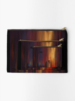 """""""Abstract lullaby"""" Zipper Pouch"""