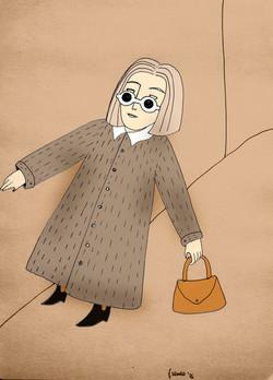 La signora che aspettava in calle