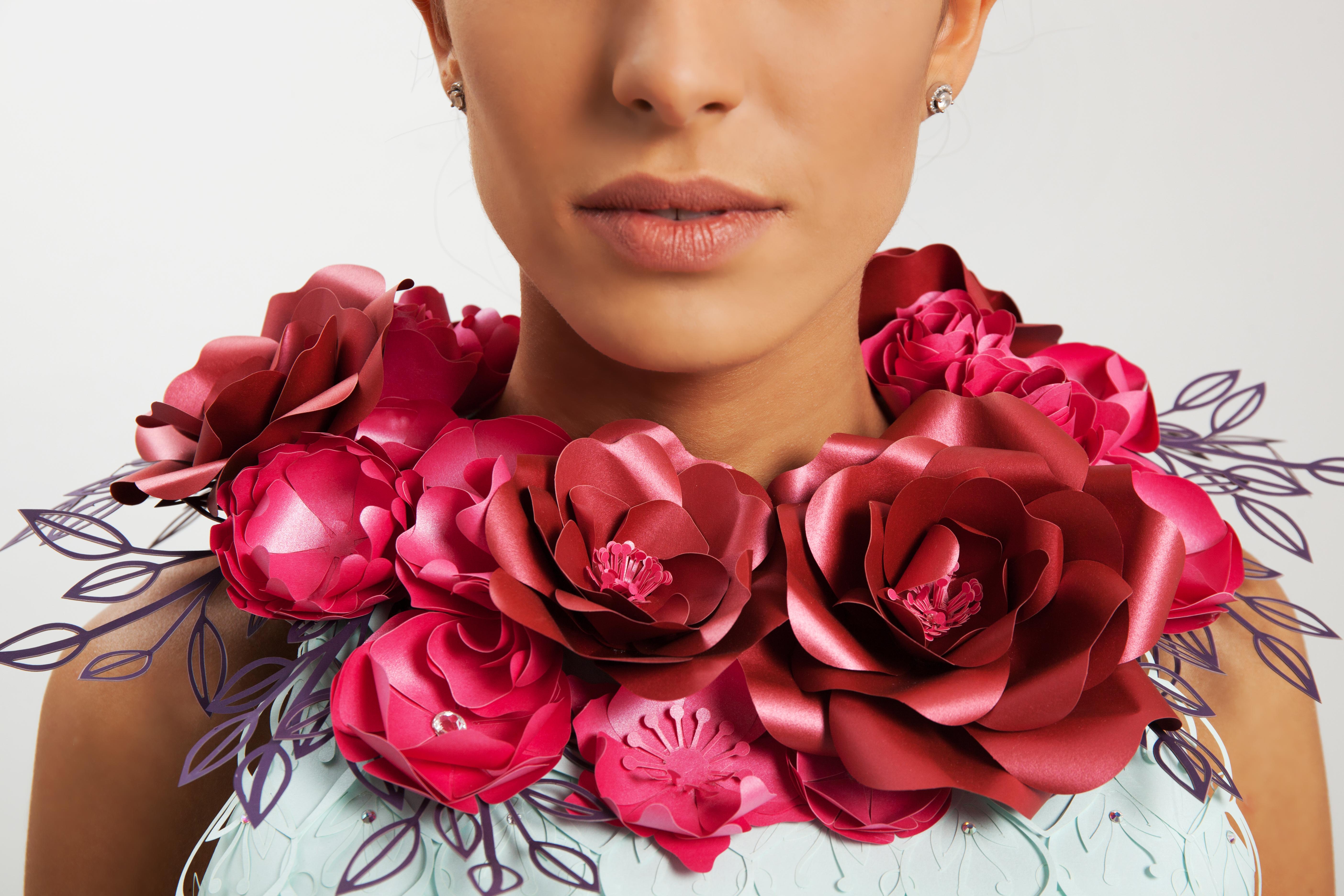 paper flowers dress details2