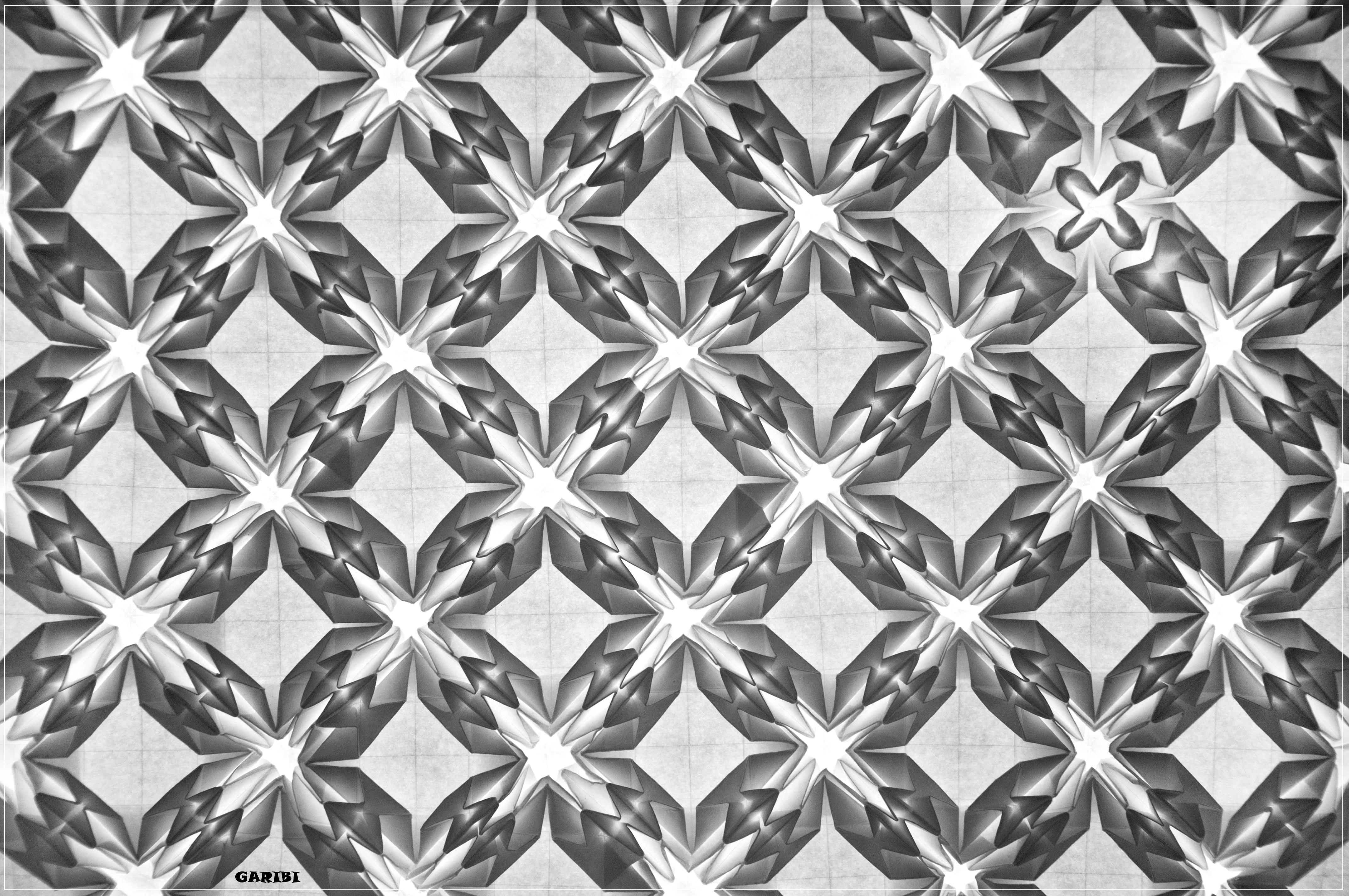 Pineapple Tesselation B&W