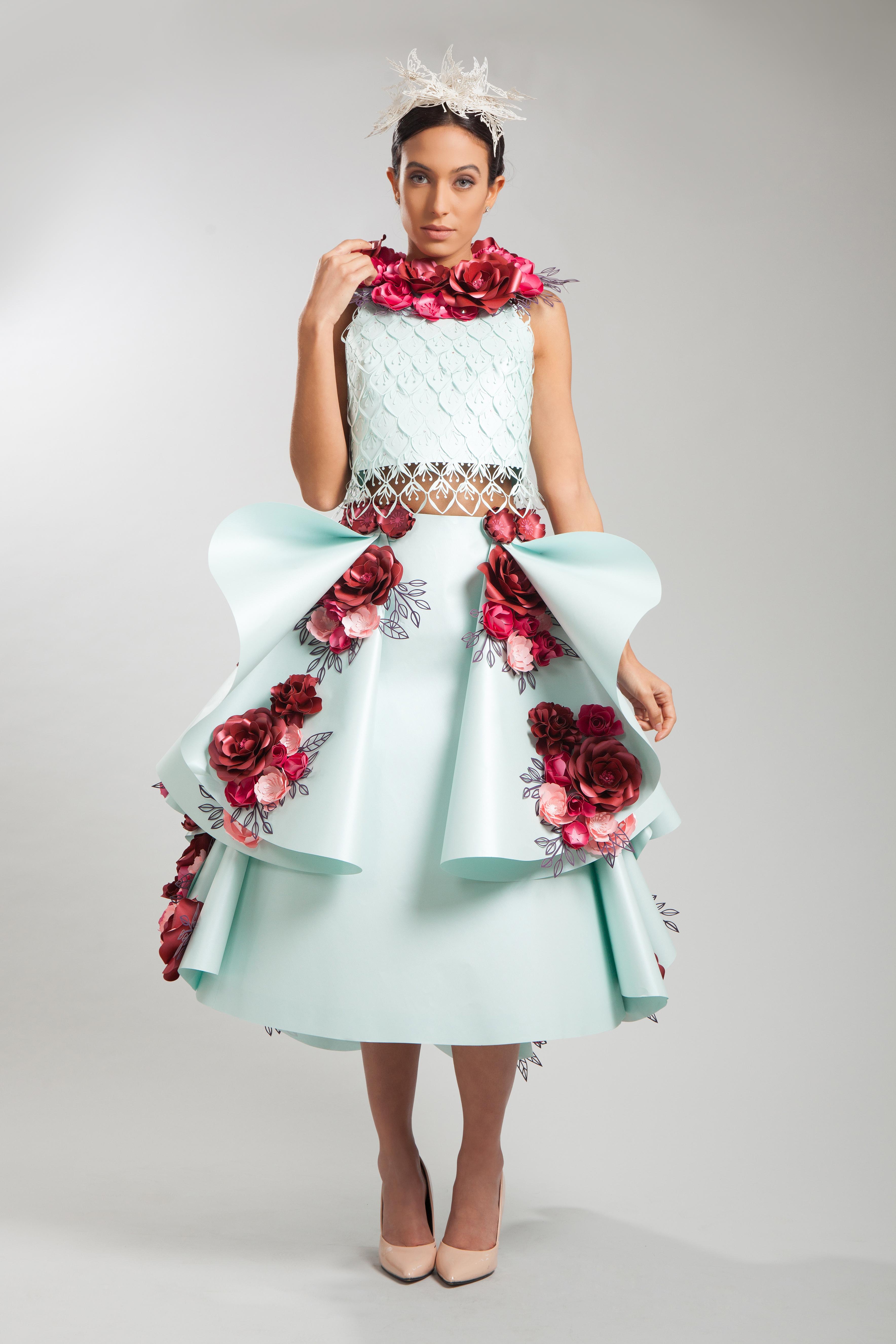 paper flower dress 2