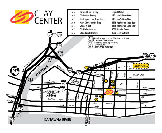 Clay Center map