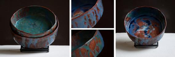 A study of Glazes Nesting bowls