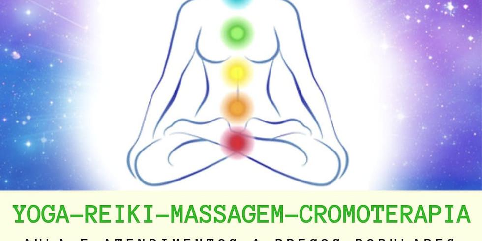 Yoga, Reiki, Massagem e Cromoterapia
