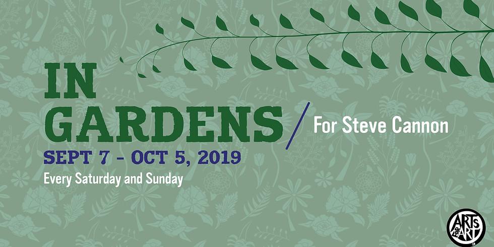 Mara Rosenbloom / Sam Newsome / Andrew Drury : Arts for Art In Gardens Series