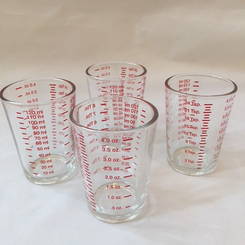 measuring cup drinking glasses - set of four