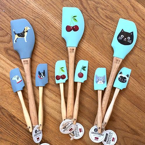 whimsical novelty dog, cat or cherries spatula