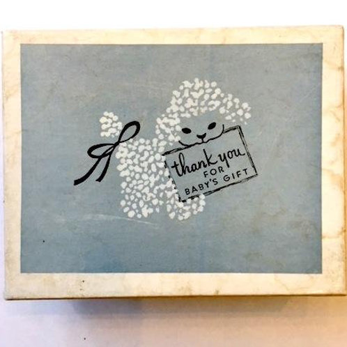 vintage 1950s mid century boxed unused thank you cards for baby boy