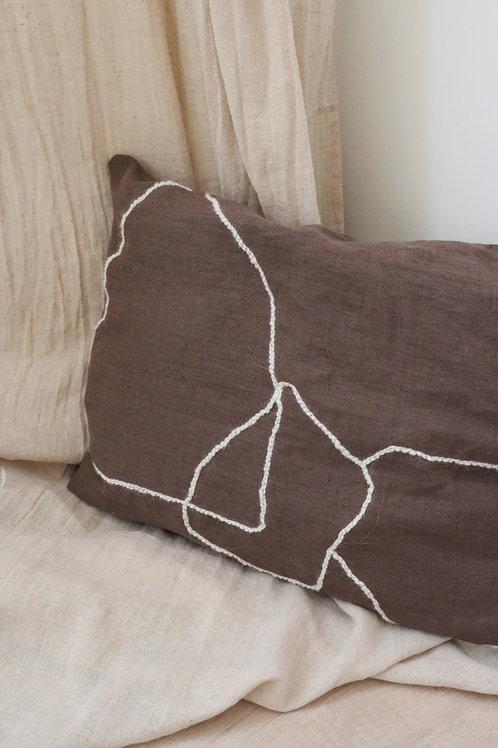 Linen cushion  - Lines