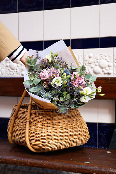 Bench - flowers in basket .jpg