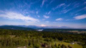 Aerial shot of Mount Baker from Maple Ridge British Columbia