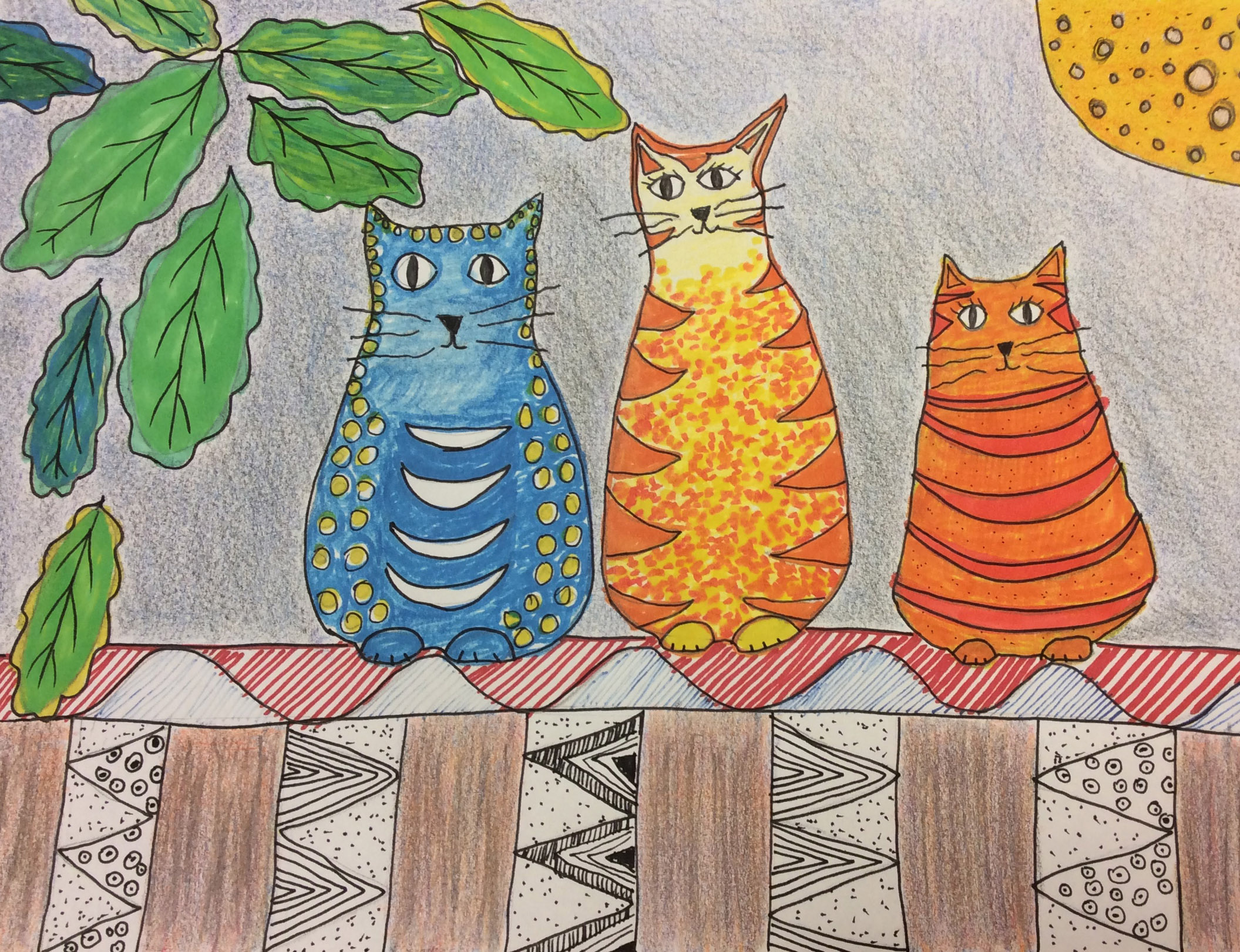 Folk Art Cats