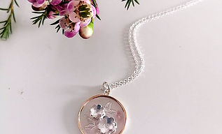 Edited Springtime Double-Flower Necklace