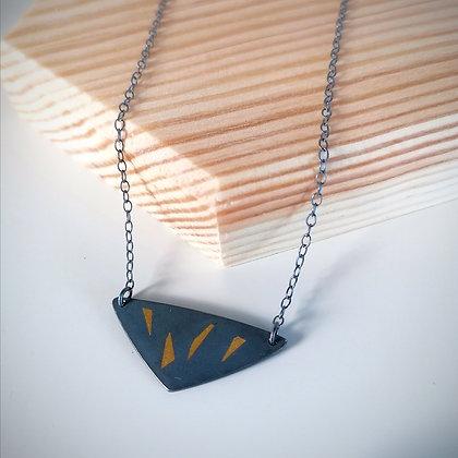 Black & Gold Segment Necklace