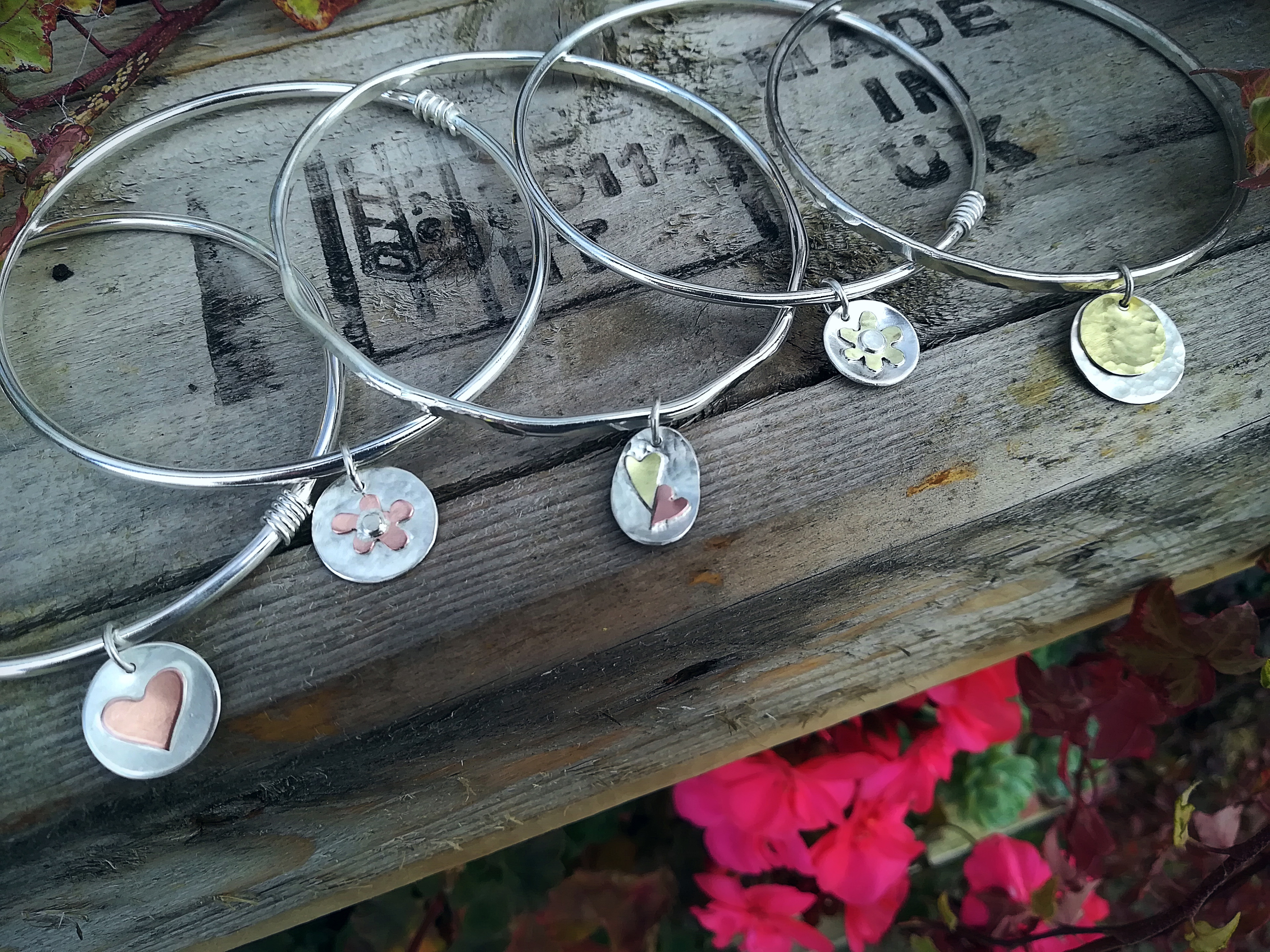 Silver Bangle & Charm -Sept-   1 SPACE