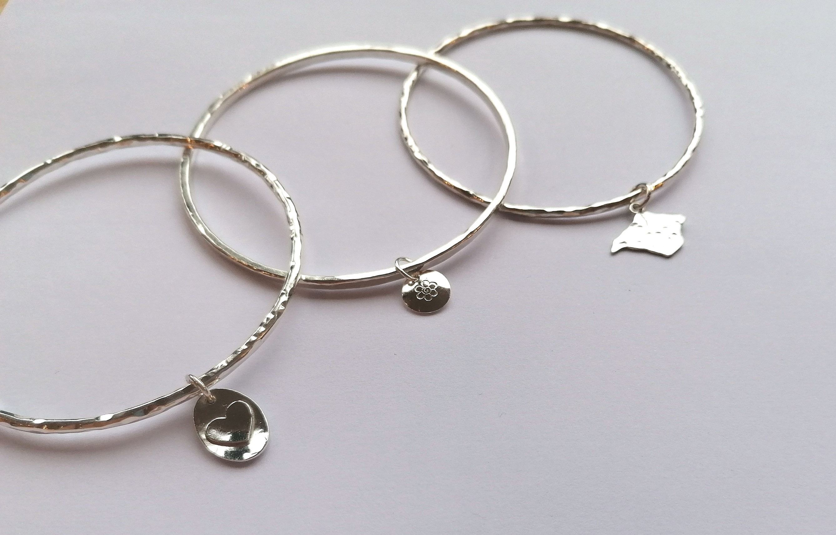 Silver Bangle & Charm - FULLY BOOKED