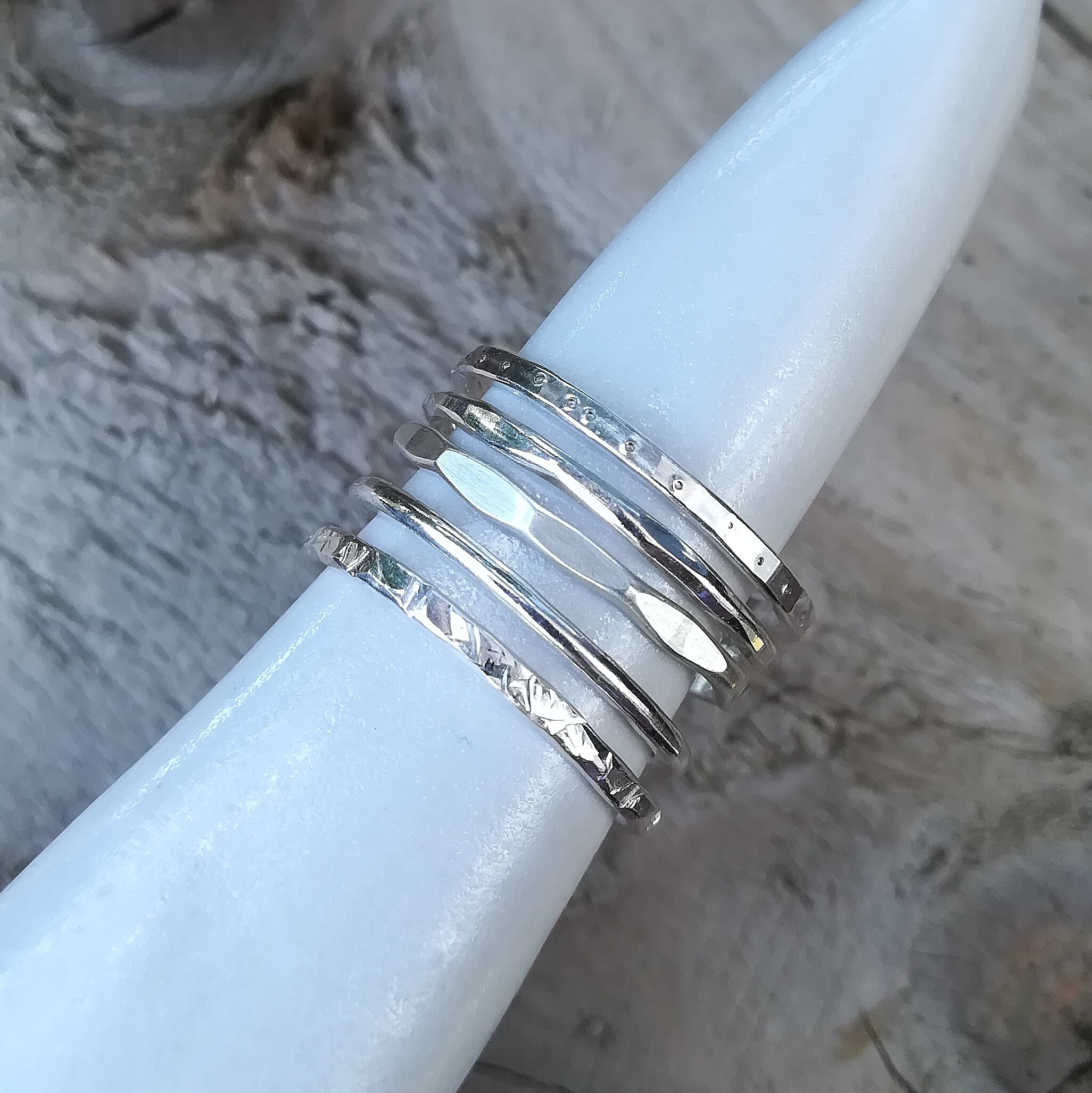 *EVENING CLASS* Silver Stacking Rings
