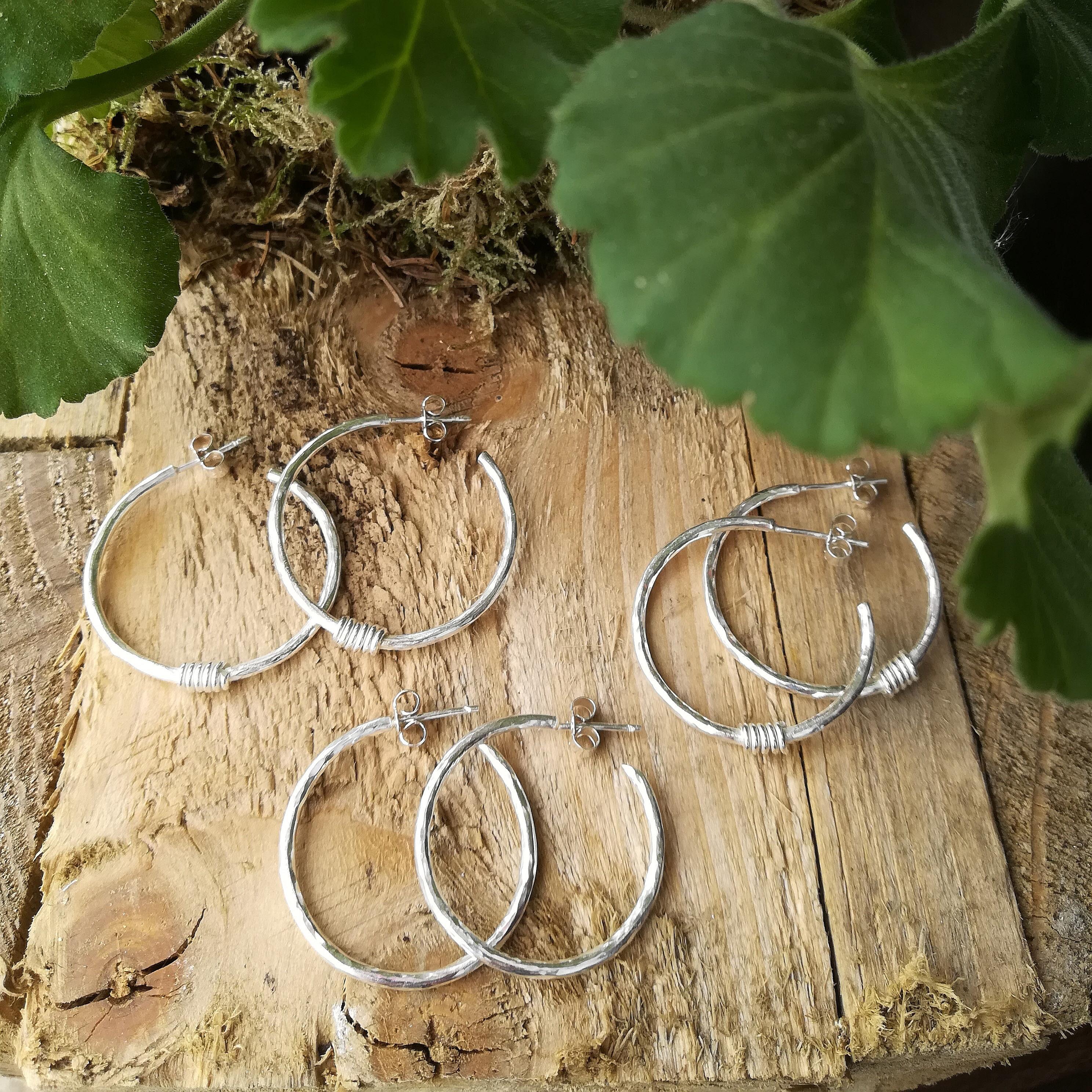 Silver Hoops - September