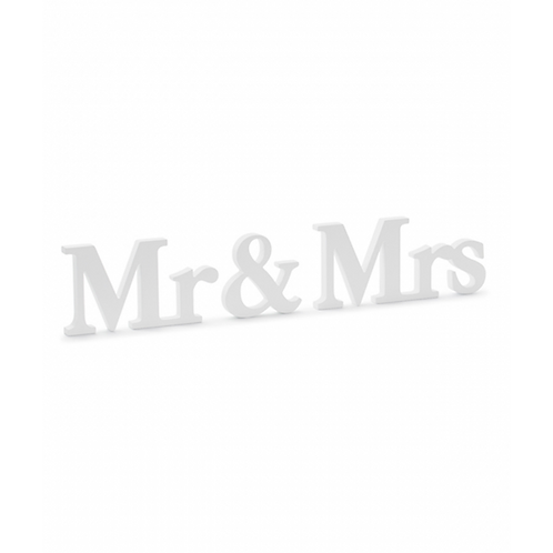 Holzdekoration - Mr & Mrs White