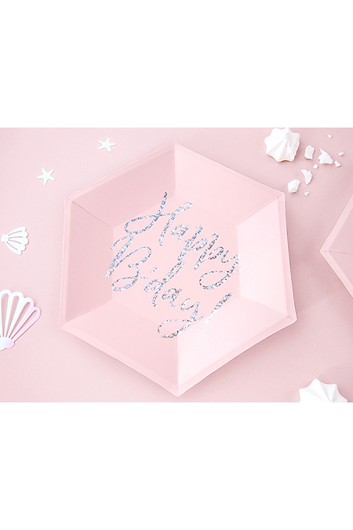 Pappteller Trend - Ø 20cm - Happy Birthday Shine