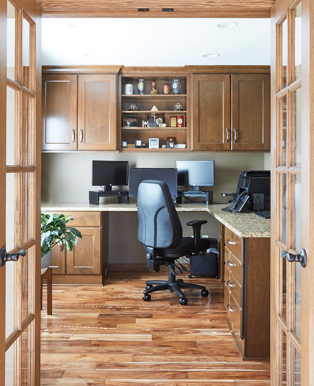 Traditional Kitchen and Office Remodel in Pewaukee Wisconsin by Design Tech Remodeling