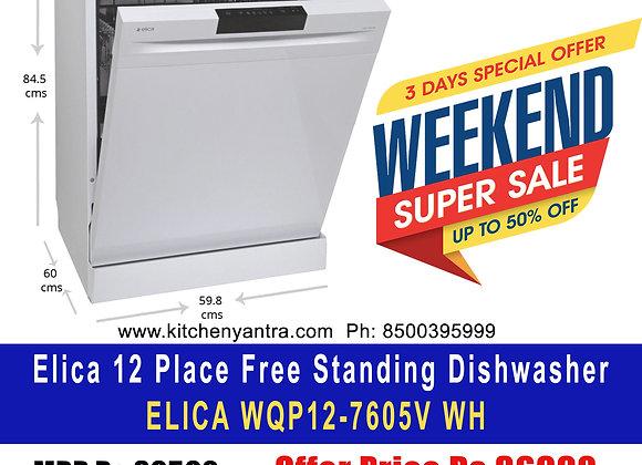 [Limited Offer] [Elica 12 Place Freestanding Dishwasher] ELICA WQP12-7605V WH