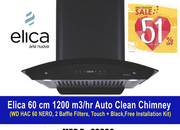 ELICA WD HAC TOUCH BF 60, 1200 m3/hr Auto Clean Chimney
