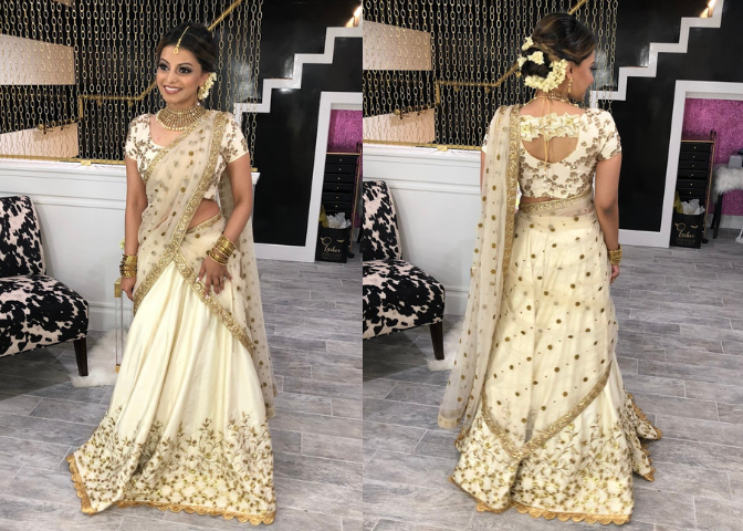 Sneha's Mylanchi Outfit