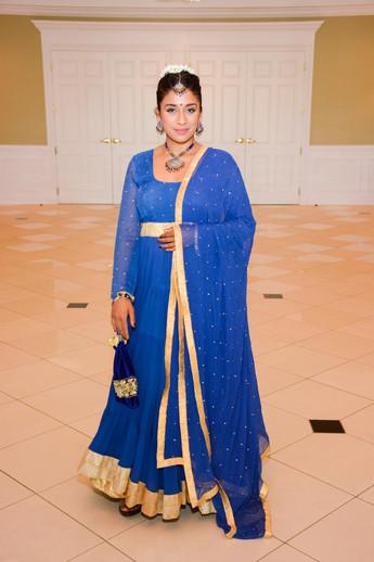 Tania in Blue Anarkali