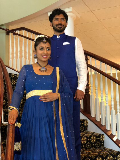 Couple Matching in WxE Blue Outfits