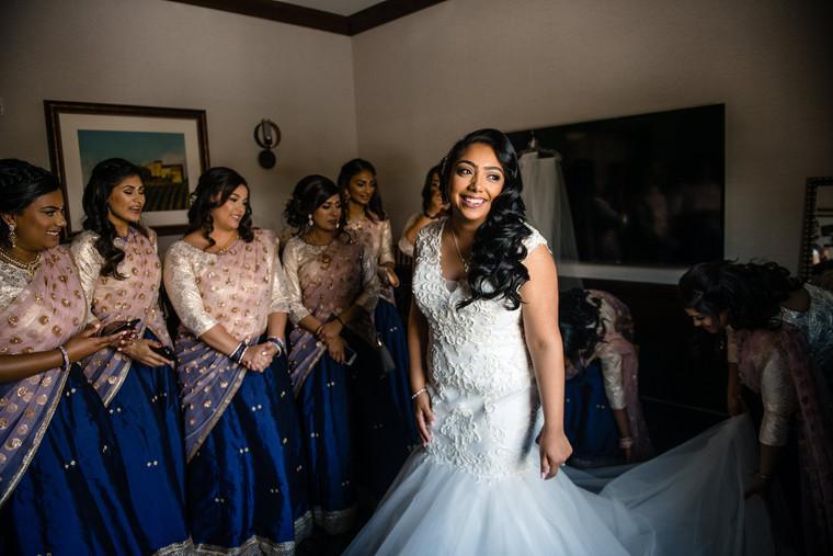 Lorraine with Bridesmades