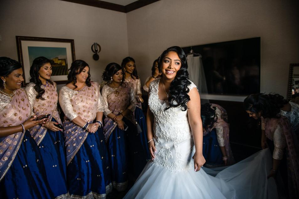 Lorraine with her Bridesmaids