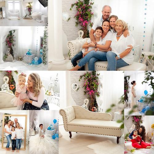 Romantikus virágos, részben természetes fénnyel / SLSFOTO Photography Studio