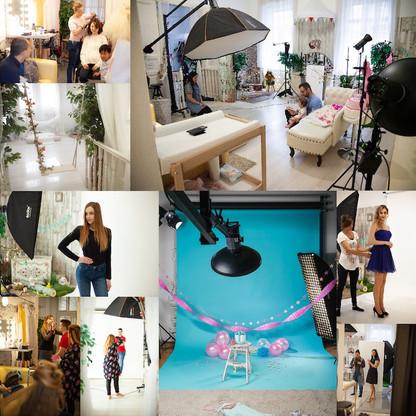 Klasszikus papír hátteres fotózások, fodrász, sminkes / SLSFOTO Photography Studio