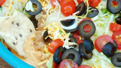 Simple 7 Layer Dip : Party Food / Potluck