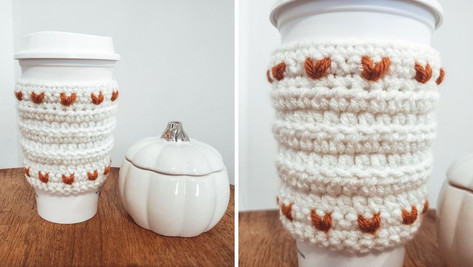Crochet Rustic Heart Cozy