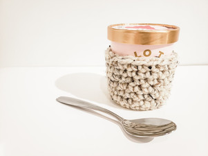 Ice Cream Pint Cozy - Free Crochet Pattern
