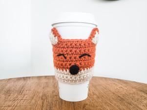 Fox Coffee Cozy - Free Crochet Pattern
