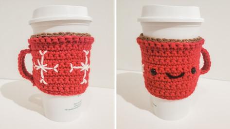 Crochet Happy Mug Cozy