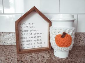Pumpkin Spice Coffee Sleeve Crochet Pattern | Coffee Cozy