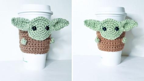 Crochet Baby Yoda Cozy