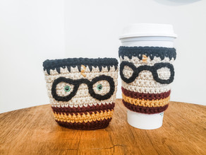 Harry Potter Coffee Cozy - Free Crochet Pattern