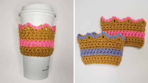 Crochet Crown Coffee Cozy
