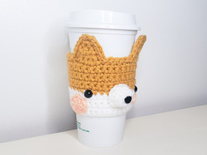 Corgi Coffee Cozy - Free Crochet Pattern