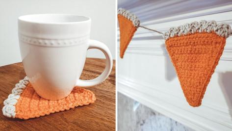 Crochet Pumpkin Pie Garland