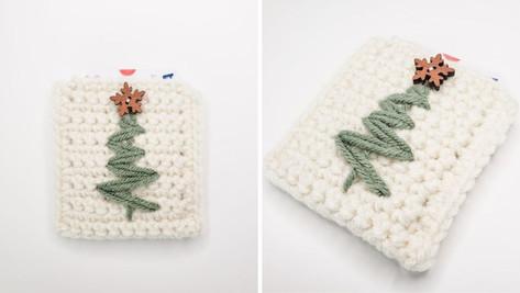 Crochet Christmas Tree Gift Card Holder