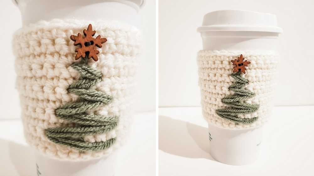 Crochet Christmas Tree Cozy free pattern is a great gift idea!
