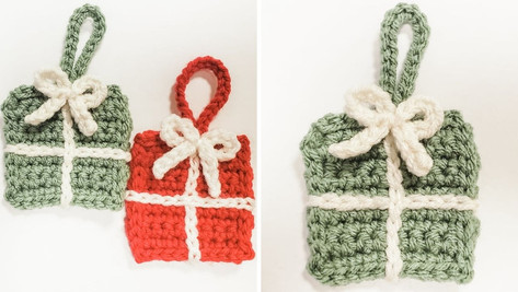 Crochet Christmas Present Ornament