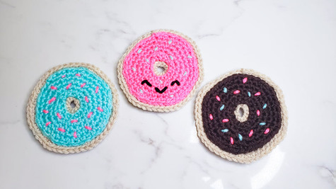 Donut Coaster - Free Crochet Pattern