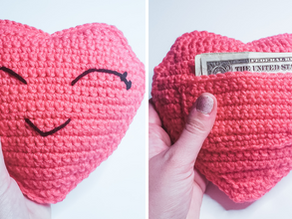 Crochet Heart Pillow - Valentine Crochet Pattern